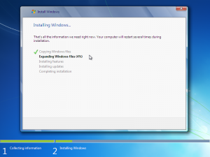 installing windows 7