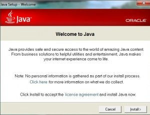 java welcome