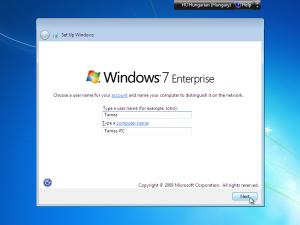 windows 7 felhasznalonev