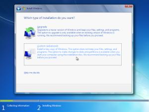 windows 7 telepítés