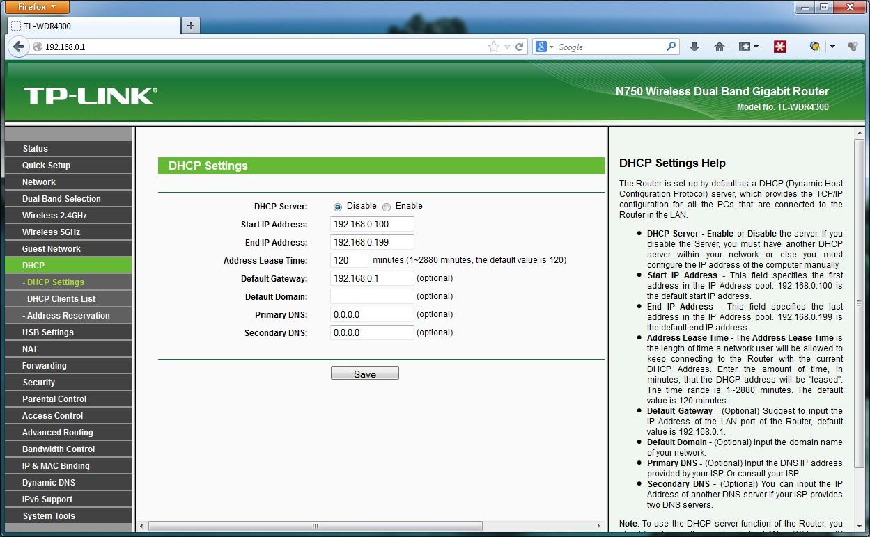 wifi router dhcp kikapcsolasa