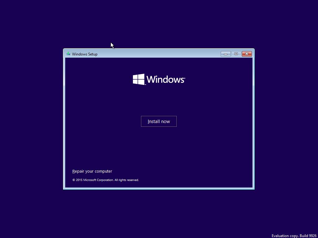 Windows 10 telepítés