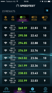 upc connect box speed test