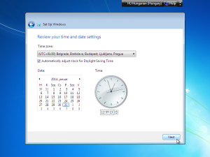 windows 7 idozona