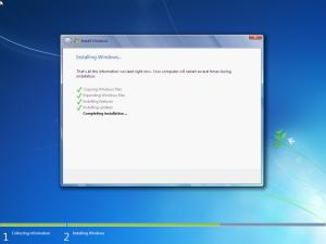 windows 7 telepites befejezese