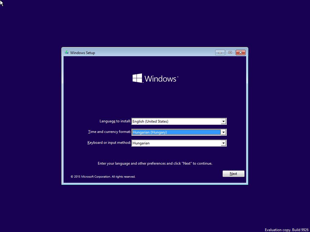 Windows 10 területi és nyelvi beállítások