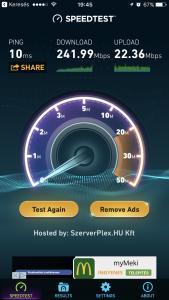 upc connect box sebesség teszt 2